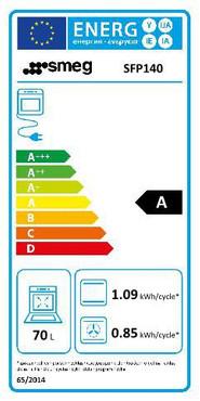 SFP140, Einbau-Backofen (EEK: A) Edelstahl-Silberglas Linea Design – Bild 2