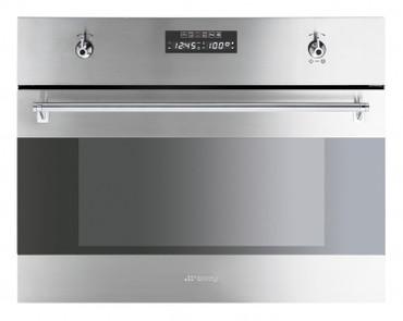S45VX2, Einbau-Kompakt-Dampfgarer (EEK: A) Edelstahl Nische 45 cm Classici Design  – Bild 1