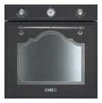 SF750AS, Einbau-Backofen (EEK: A) Anthrazit Silber Antik 60 cm Cortina Design  001