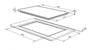 SE2951TC2, Glaskeramikkochfeld 90 cm  – Bild 3