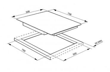 SE2773CX2, Glaskeramikkochfeld 77 cm  – Bild 2