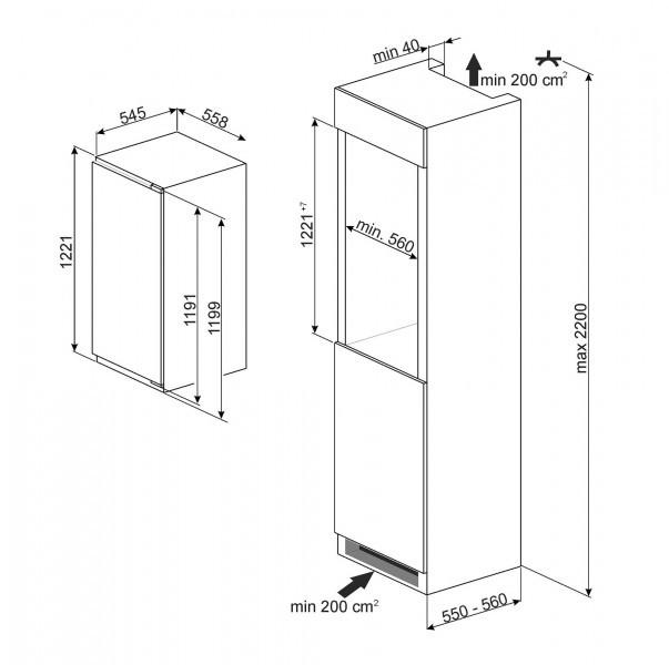 sid210c einbau k hlschrank 4 sterne gefrierfach a 180 l 122 cm k hlen einbauk hlschr nke. Black Bedroom Furniture Sets. Home Design Ideas
