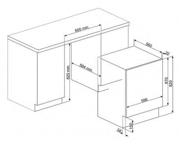 LST147, Waschvollautomat Vollintegrierbar, 60 cm, (EEK: A+, B)  – Bild 2