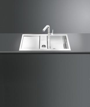 LQR100-2, Spüle, 1000 x 500 x 4,0 mm, Edelstahl, Quadra Design  – Bild 2