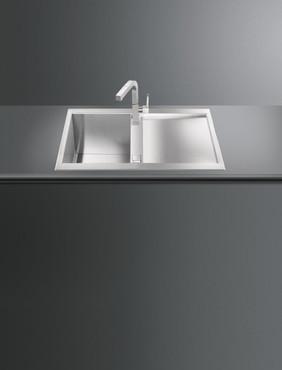 LQR861-2, Spüle, 860 x 500 x 4,0 mm, Edelstahl, Quadra Design – Bild 2