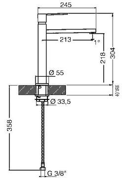 MFQ8-IS2, Design-Armatur, Edelstahl gebürstet  – Bild 3