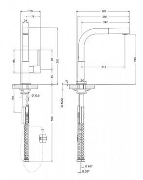 MDQ5-CR, Design - Armatur, Hochglanz verchromt  – Bild 3
