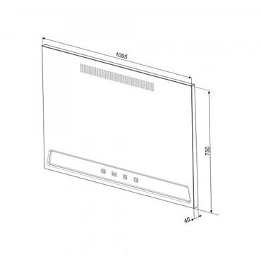 KIT1TR41N, Metallrückwand Schwarz Hochglanz, Victoria Design, 1095x750x40mm  – Bild 2