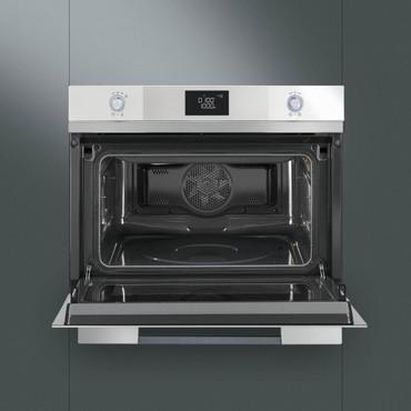 SF4120MB, Einbau-Kompakt-Mikrowelle, EEK-A+++, 45cm, Linea Design Weissglas – Bild 3