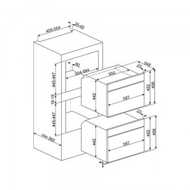 SF4120MN, Einbau-Kompakt-Mikrowelle, EEK-A+++, 45cm, Linea Design Schwarzglas – Bild 2