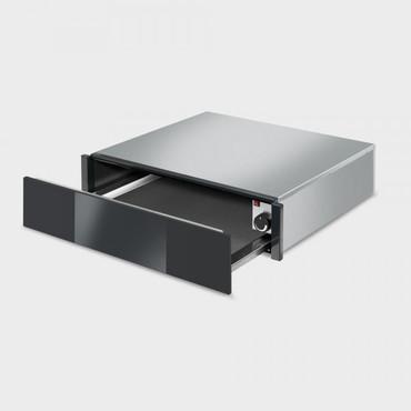 CTP1015N, Einbau-Wärmeschublade, 60cm, H-15cm, Edelstahl, Schwarzglas, Linea Design – Bild 2
