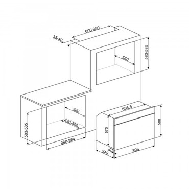 SFP9395X, Einbaubackofen EEK-B, 90cm, Classici Design, Edelstahl  – Bild 2