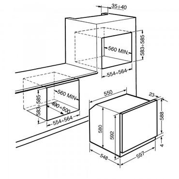 SFP6390X, Einbaubackofen, EEK-A, 60cm, Multifunktion, Classici Design – Bild 2
