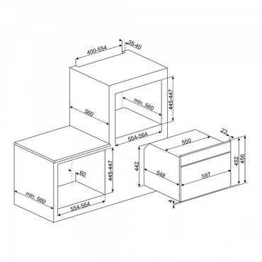 SF4390MX, Einbau-Kompakt-Mikrowelle, EEK-A+++, 45cm, Classici Design, Edelstahl – Bild 3