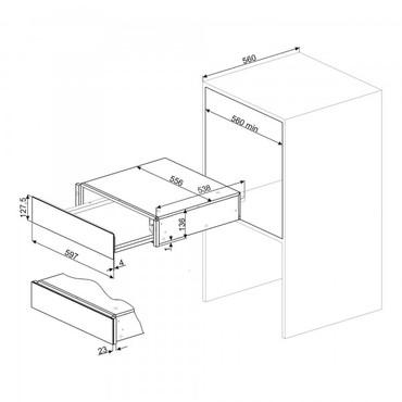CTP3015X, Einbau-Wärmeschublade, 60cm, H-15cm, Edelstahl, Classici Design – Bild 3