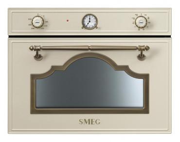 SF4750MCPO, Einbau-Kompakt-Mikrowellenbackofen, EEK-A+++, 45cm, Cortina Design, Creme-Messing Antik – Bild 1