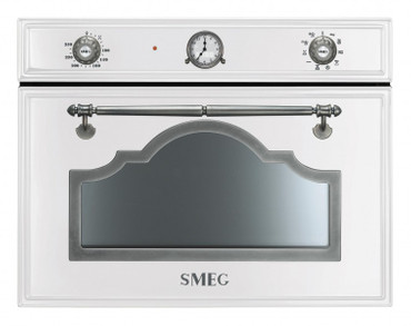 SF4750MCBS, Einbau-Kompakt-Mikrowellenbackofen, EEK-A+++, 45cm, Cortina Design, Weiss-Silber Antik – Bild 1