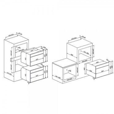 SF4750MCBS, Einbau-Kompakt-Mikrowellenbackofen, EEK-A+++, 45cm, Cortina Design, Weiss-Silber Antik – Bild 2