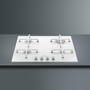 PV164CBD, Einbau-Gaskochfeld, Linea Design, 60 cm, Glaskeramik Weiss – Bild 2