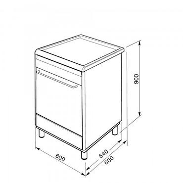 SCD60CMX8, Kombistandherd, EEK-A, Edelstahl, 60 cm, Neutrales Design, Glaskeramik – Bild 3