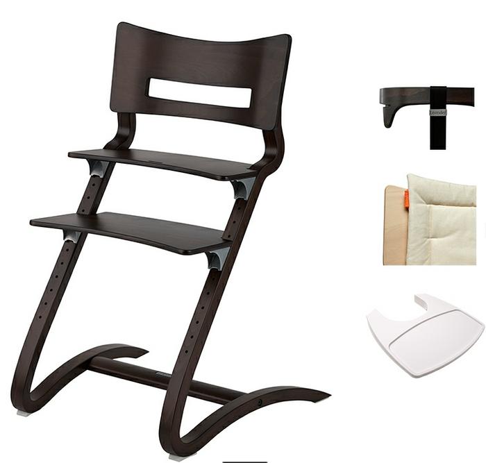 Leander Hochstuhl COMBI Set inkl. Sicherheitsbügel, Gurt, Sitzkissen und Tisch