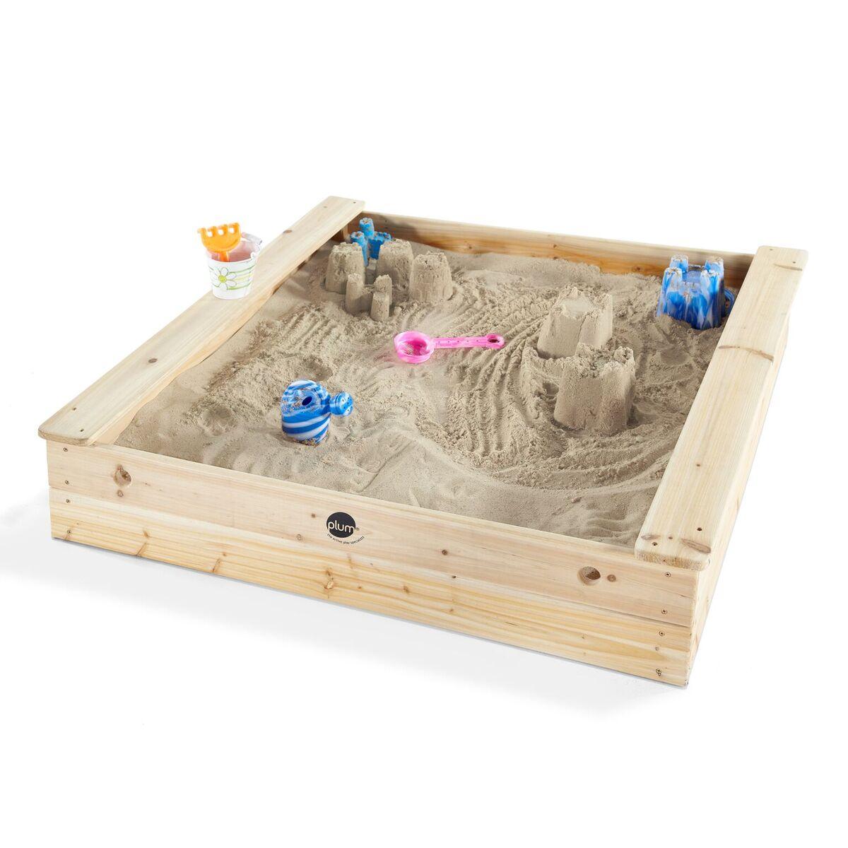 Plum Holz Sandkasten mit Sitzbänken