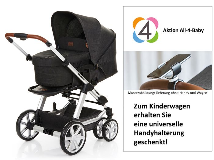 ABC Design Turbo 6 Kollektion 2018 inkl. universeller Handyhalterung