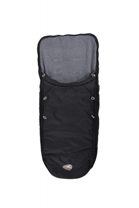 TFK Fleece Fußsack Universal - Farbe: Schwarz
