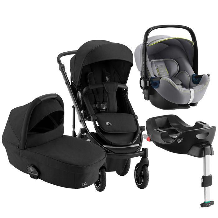 Britax Römer Smile III Kinderwagen Bundle mit Smile III Kinderwagenaufsatz, Britax Römer BABY-SAFE² i-Size inkl. Base - Comfort Plus Bundle