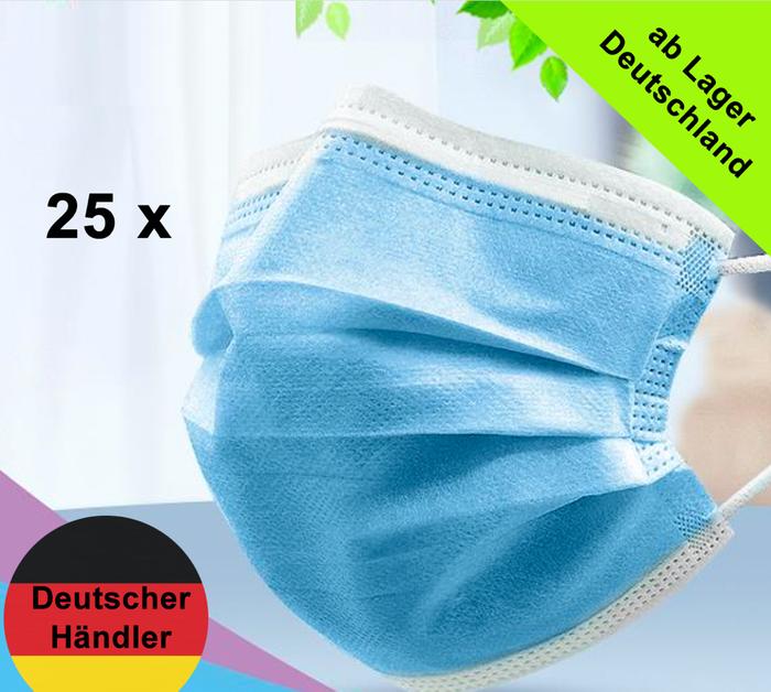 Medizinische Vlies-Einweg Mund- und Nasenmaske - 3 Schichten Alltagsmasken ISO-13485 zertifiziert / med. Report: EN14683