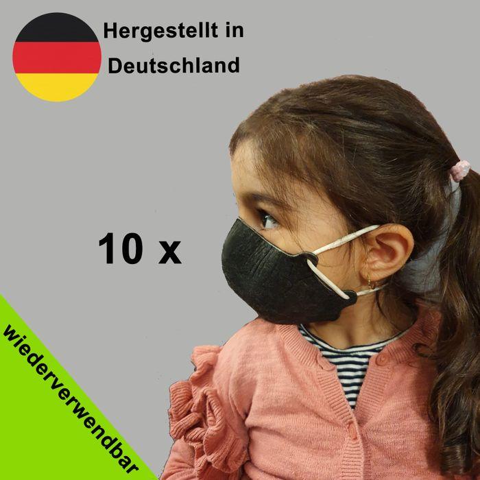 Wiederverwendbare Behelfsmaske für Kids - (Nase- und Mund Maske, Alltagsmasken) - Made in Germany