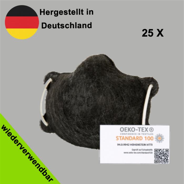 Wiederverwendbare Behelfsmaske für Erwachsene - (Nase- und Mund Maske, Alltagsmasken) - Made in Germany
