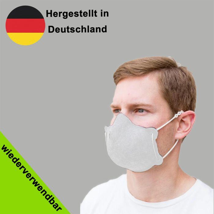 Wiederverwendbare Behelfsmaske (Nase- und Mund Maske, Alltagsmasken) für Erwachsene - Made in Germany