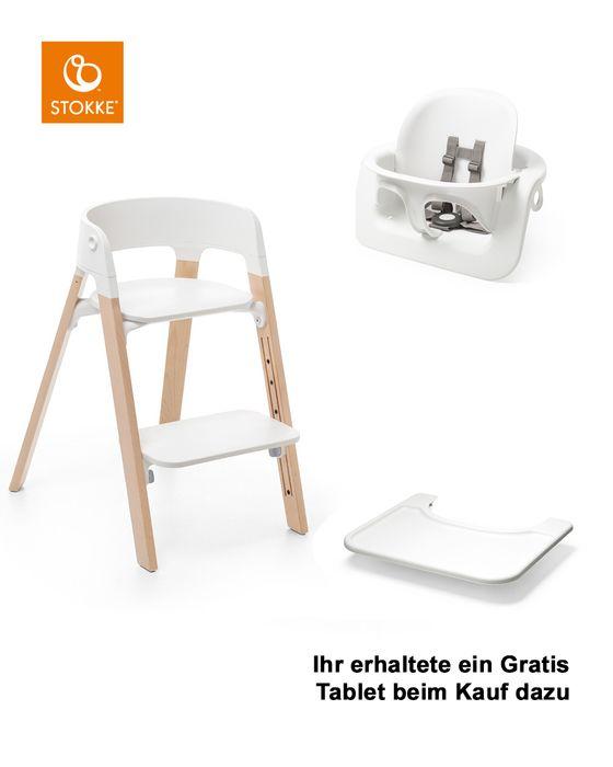 Stokke® Steps™ Stuhl mit Babyset und Gratis Tablett