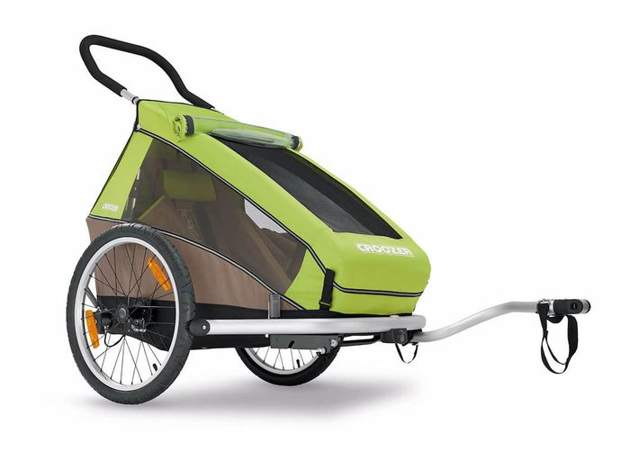 CROOZER Kid for 1 Click & Crooz Kin­der­fahr­rad­-An­hän­ger mit Fahr­rad-Set, Buggy-Set und Jogger-Set