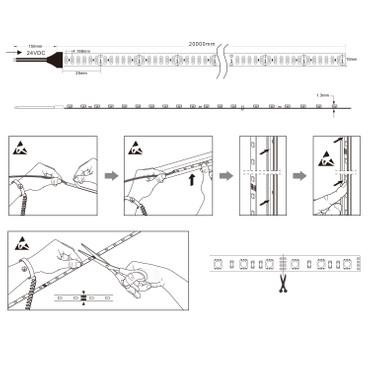 LED Flex Band 2835, warmweiß, 240 LED/m, 23,0W/m, 24Vdc, IP20, RA 94+ – Bild 3