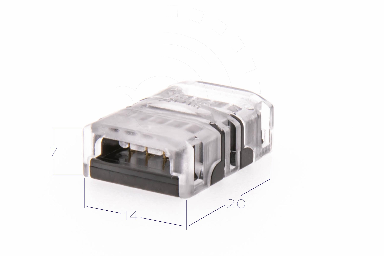 10 Stk 4-polig 10 Lichter mm Stecker auf Buchse Schwarz fuer RGB LED Str R3D8 2X