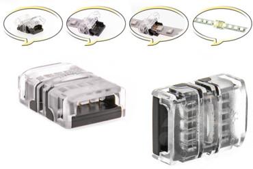10mm LED Schnell Verbinder für Streifen 2-Pin Adapter Strip / Stripe Direkt – Bild 1