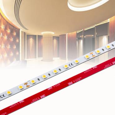 LED Stripe 3-Chip 5050, warmweiß, 60 LED/m, 14,4W/m, 12Vdc, IP20, RA 90+ – Bild 1