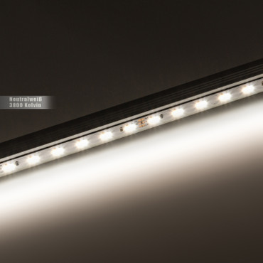 LED Stripe 1-Chip 3528, neutralweiß, 60 LED/m, 12Vdc, IP65, RA 90+ – Bild 2