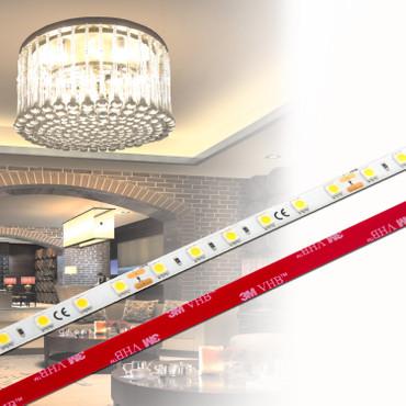 ✅ LED Stripe 3-Chip 5050, warmweiß, 60 LED/m, 14,4W/m, 12Vdc, IP65, RA 90+