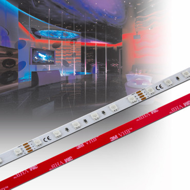 LED RGB-Band 3-Chip 5050, 60 LED/m, 14,4W/m, 24Vdc, IP20 – Bild 1