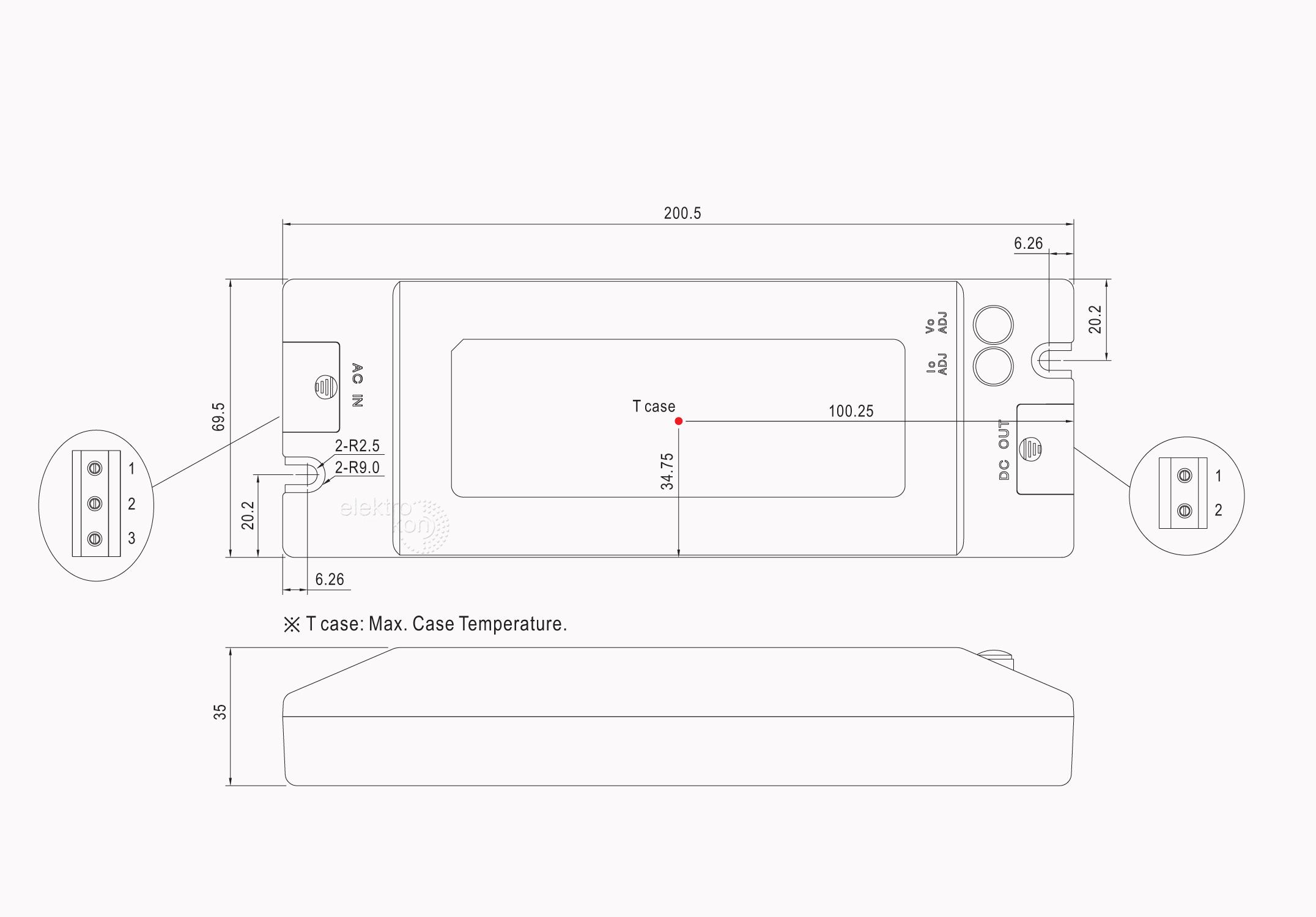 Mean Well PLC-100-24 Möbel Einbaunetzteil 24Vdc / 4A / 100W / IP41 ...