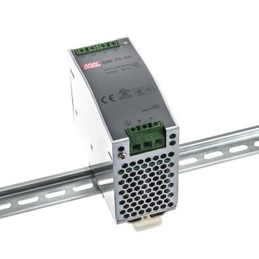 24Vdc 3,2A 75 Watt, Mean Well DR-75-24 DIN-Rail LED Hutschienen Netzteil – Bild 1