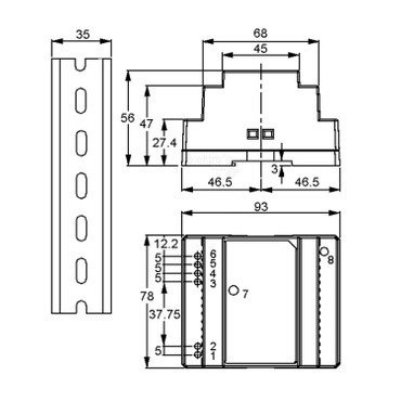 12Vdc 2A 24 Watt, Mean Well DR-30-12 DIN-Rail LED Hutschienen Netzteil – Bild 2