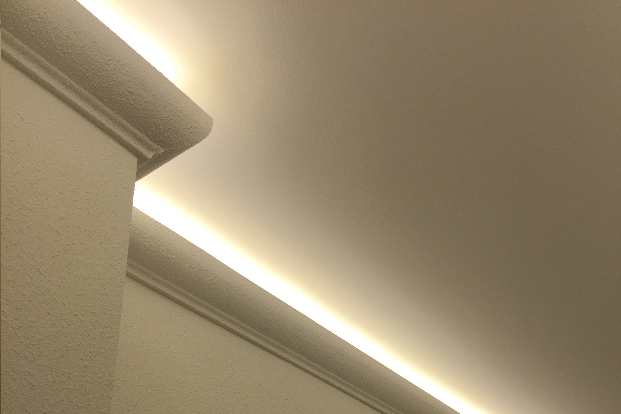 2meter led pu stuckleiste f r indirekte beleuchtung zierleiste sto fest ek led 2 ebay - Indirekte beleuchtung fur fenster ...