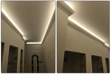 2 Meter LED Profil PU Stuckleiste für indirekte Beleuchtung Zierleiste Dekor stoßfest 80x70, EK-LED-10 – Bild 4