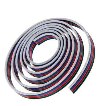 5x 0,5 mm² 20 AWG RGB-W  Anschlußkabel 5-adrig, Verlängerungskabel, METERWARE – Bild 1