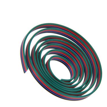4x 0,5mm² 20 AWG RGB Anschlußkabel 4 Adrig, Verlängerungskabel, METERWARE – Bild 1