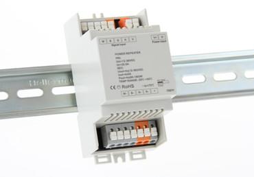 4 Kanal 12V - 36V LED RGB - W Signal Verstärker, Leistungszusatz max. 4x 5A, Power Repeater auf Hutschiene – Bild 2